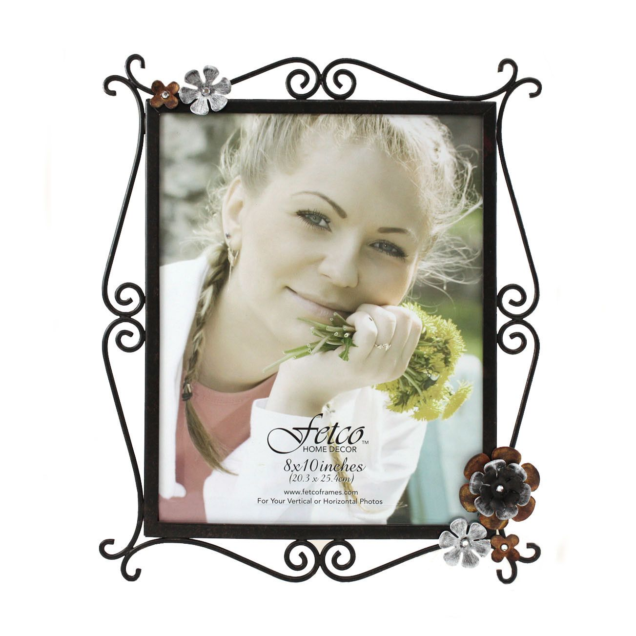 Fetco Home Decor Petals Lowndes Burnished Picture Frame | Picture ...