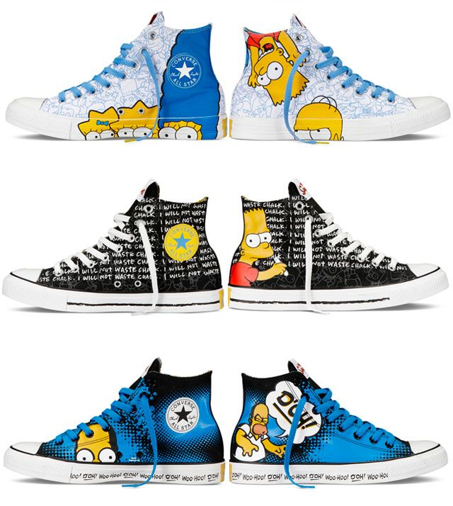11d9f01d5 All Star dos Simpsons Sapatos