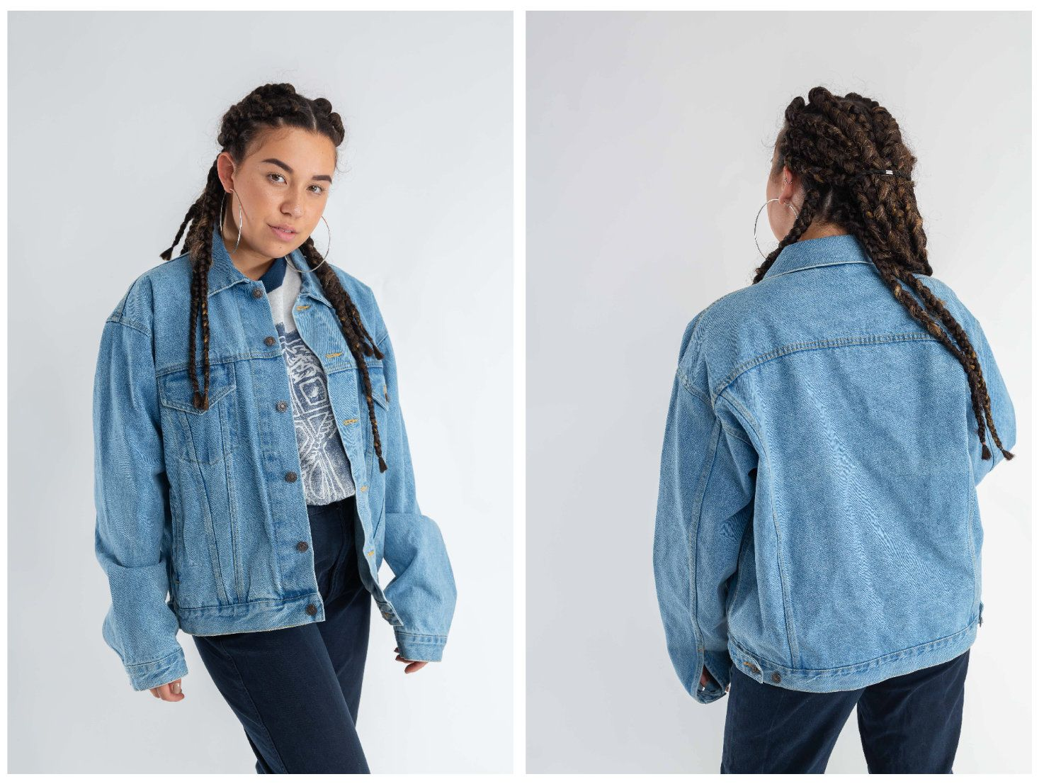 Vintage Oversized Jean Jacket 90s Faded Trucker Denim Jacket Women S Destroyed Denim Jacket Men S Nineties Light Denim Jacket Size L Destroyed Denim Jacket Light Denim Jacket Denim Jacket Women [ 1106 x 1474 Pixel ]
