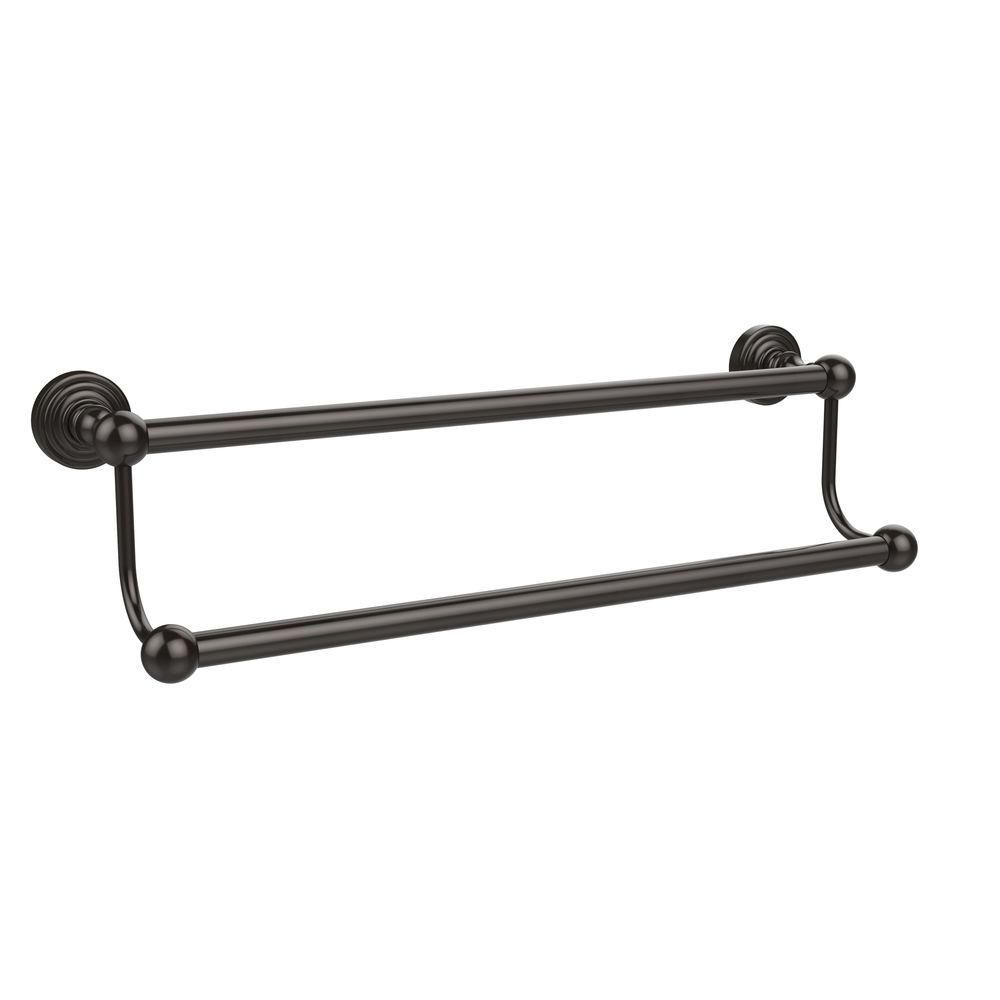 Allied Brass Waverly Place Collection 18 In Double Towel Bar In Satin Nickel Wp 72 18 Sn The Home Depot Towel Bar Allied Brass Bar Oil