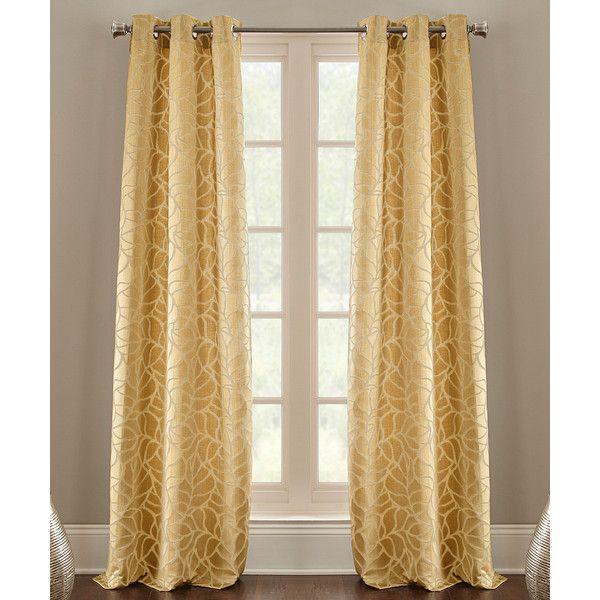 Colonial Home Textiles Suede Pencil Leaf Jacquard Curtain Panel