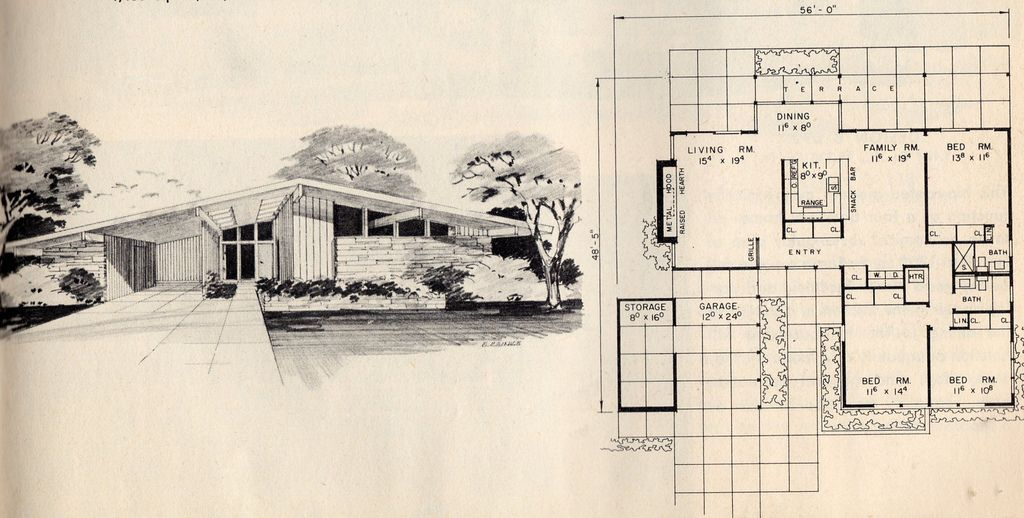 modern ranch floor plans - 1024×518