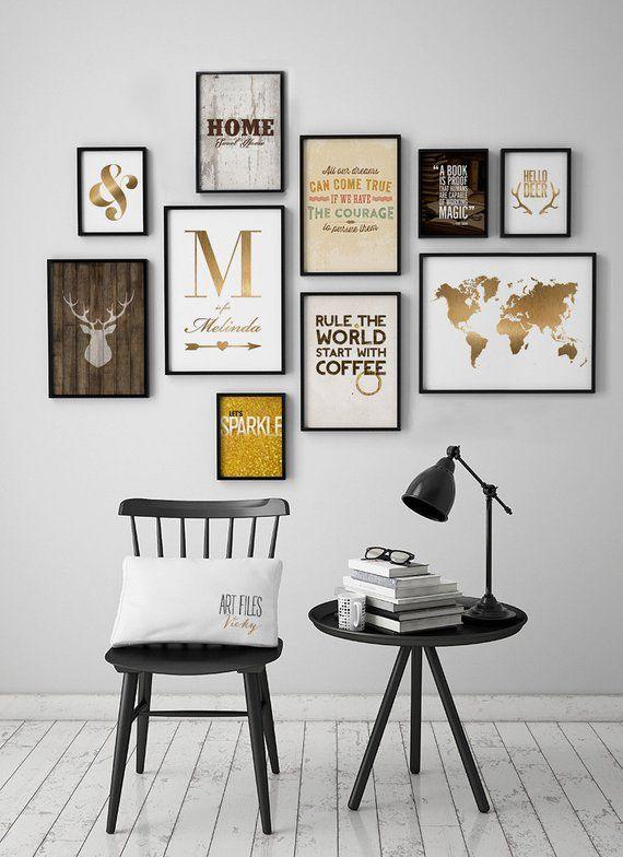 Wand-Kunst-Drucke Set von 10 Drucke Satz von 10 Kunstdrucke