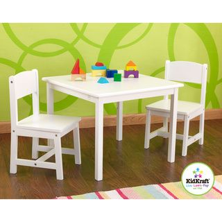 @Overstock.com - KidKraft White Aspen Table/Chair Set - This table and chair set is the perfect place for your child to color play board games ...  sc 1 st  Pinterest & Overstock.com - KidKraft White Aspen Table/Chair Set - This table ...