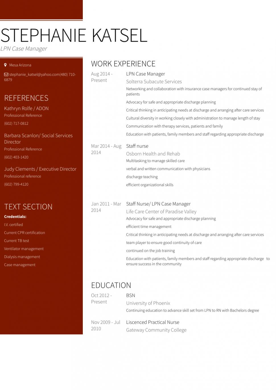 14 Lpn Resume Sample 14 Lpn Resume Sample Lpn Resume