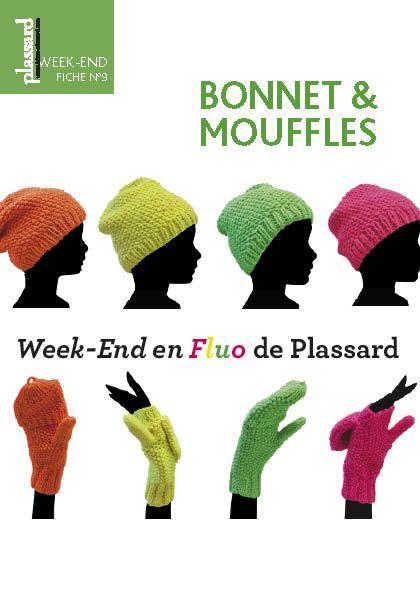 bcc66767a045 Bonnet   Mouffles. Patron PDF gratuit.   Tricot, crochet et tricotin ...