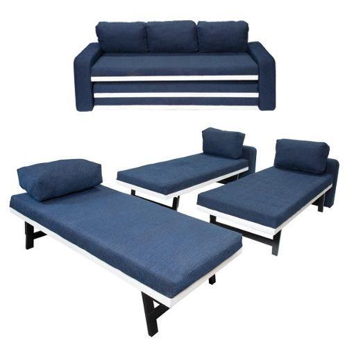 sofá cama, tres piezas g-0626