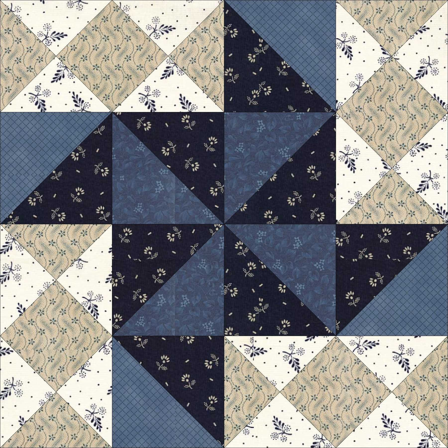 April 6 Flying Fist.This block is from the pattern library ...