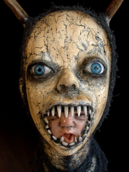 Doll costume creepy makeup halloween