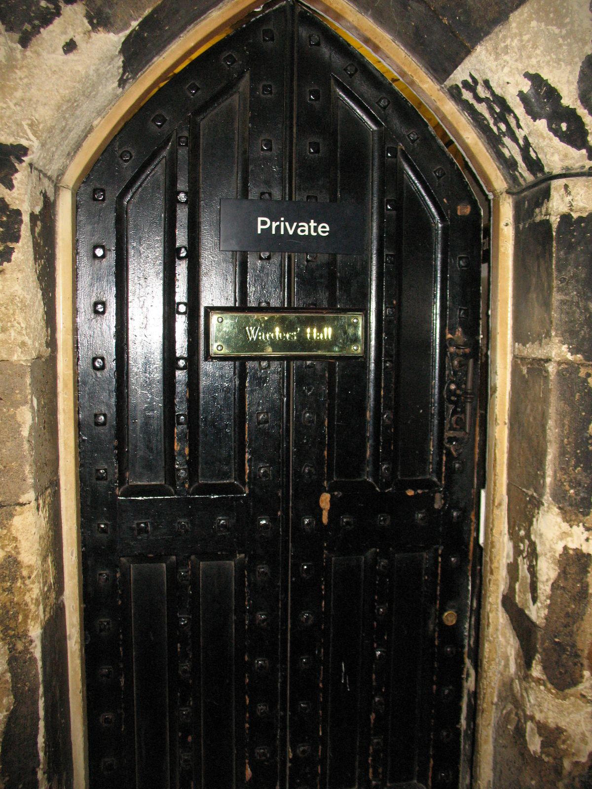 The door that the unsuspecting Anne Boleyn went through on her way to meet Henry the 8th at the Tower of London!