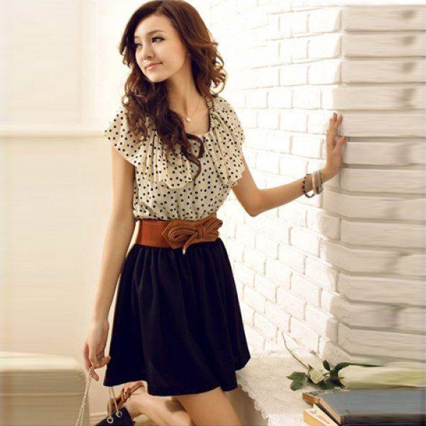 Summer korean style light gray chiffon halter dress