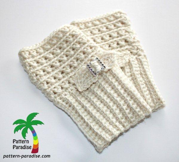 FREE Crochet Pattern - X Stitch Challenge Fingerless Gloves ...