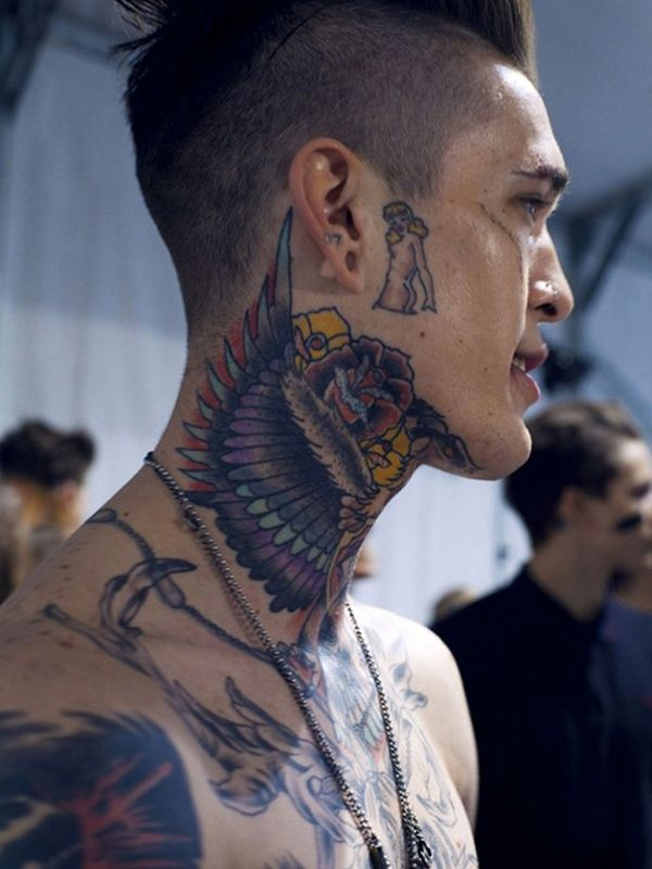 9b90c246a 140 Eye Catching Neck Tattoos For Men & Women cool Check more at http: