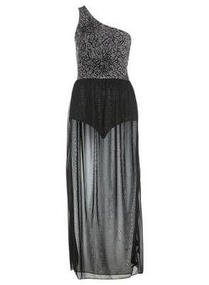 TOWIE Embellished Devore Maxi Dress Bodysuit Miss Selfridge #TOWIE #party #christmas #dress