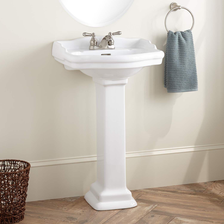 Stanford Porcelain Mini Pedestal Sink | Pedestal sink, Pedestal and ...