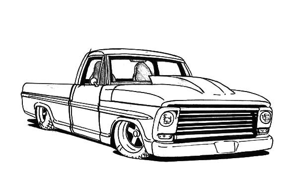 Truck Lowrider Cars Coloring Pages Jpg 600 386 With Images