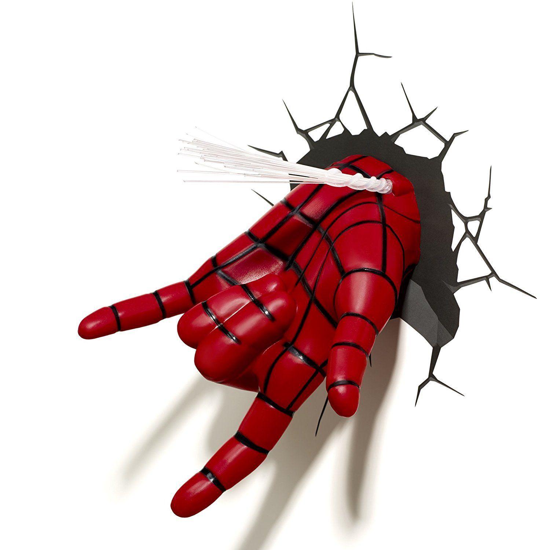 3d Light Fx Marvel Spiderman Hand 3d Deko Led Wandleuchte