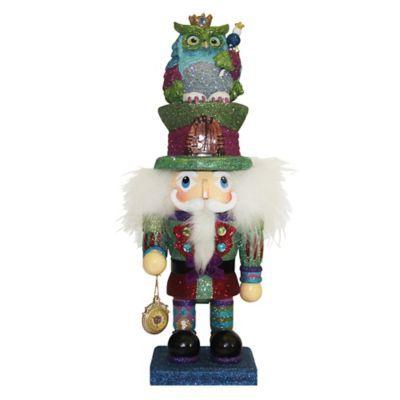 Kurt Adler 15-Inch Hollywood Colorful Owl Hat Nutcracker - BedBathandBeyond.com