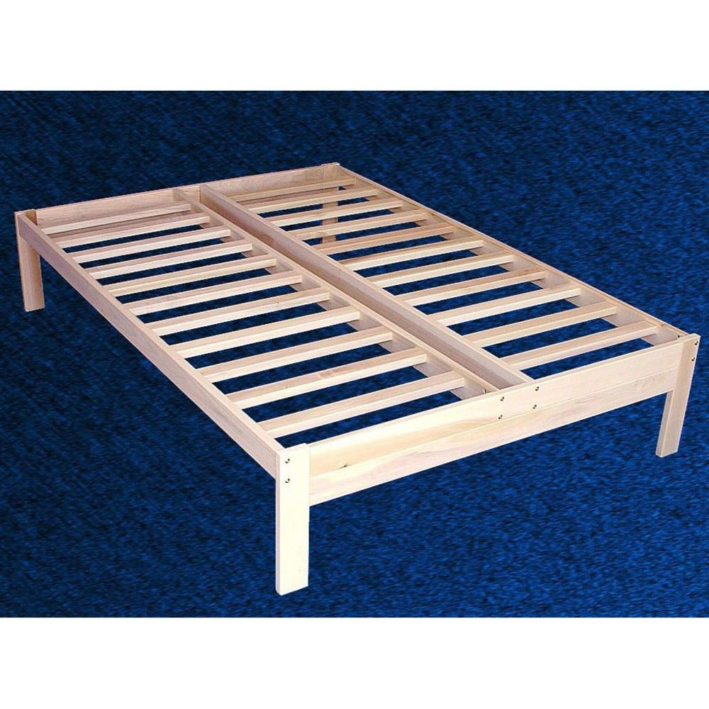 289 our solid wood platform bed frame is made of unfinished poplar hardwood the wood has been. Black Bedroom Furniture Sets. Home Design Ideas