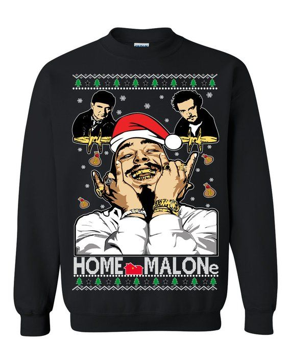 3c5d0c277 OnCoast Post Malone Home Alone Home Malone Collaboration | Post Malone Ugly  Christmas Sweater | Fun