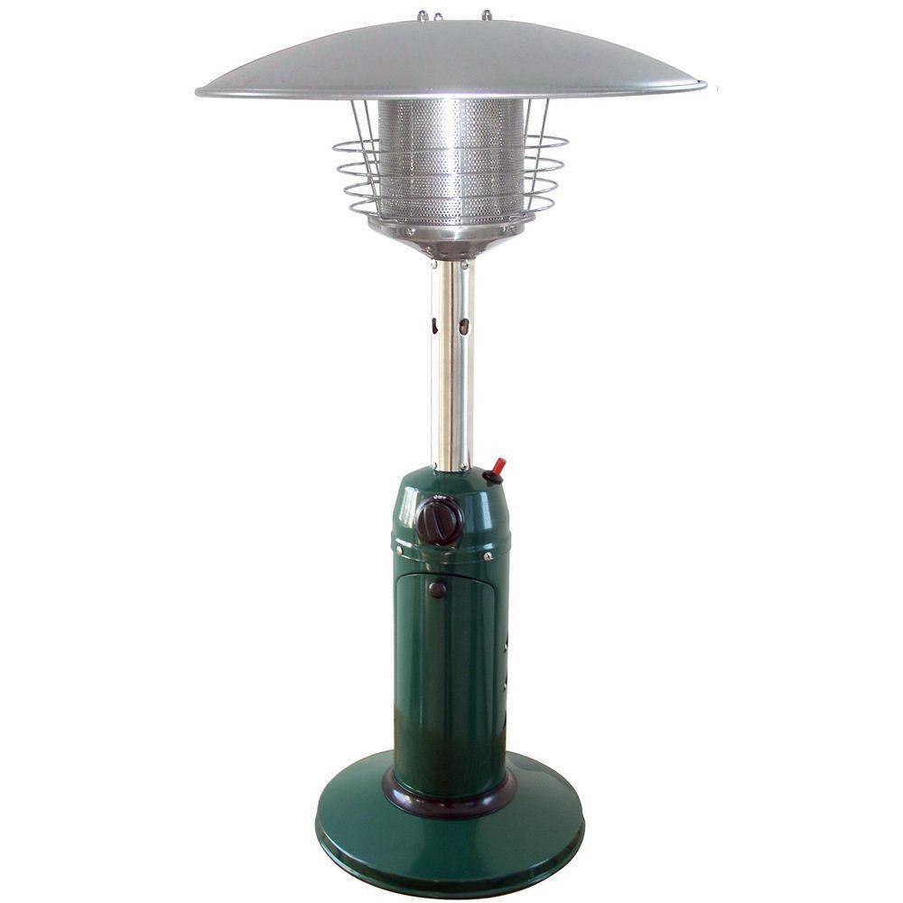 Garden Radiance 11,000 BTU Green Tabletop Propane Gas Patio Heater
