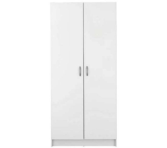 armoire 2 portes focus/box blanc | armoires
