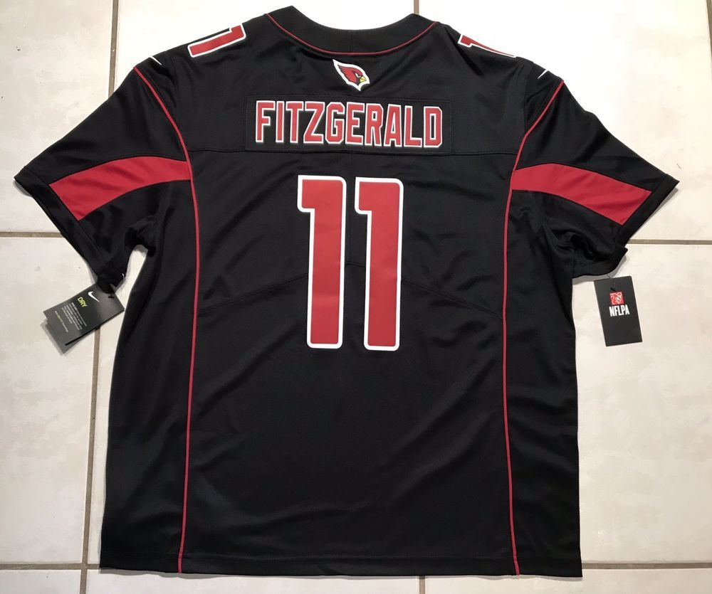 new product be7b1 41efe NWT NIKE Arizona Cardinals Larry Fitzgerald COLOR RUSH NFL ...