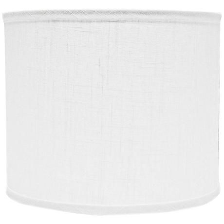 White linen drum lamp shade 12x12x10 spider style 5g800 drum white linen drum lamp shade 12x12x10 spider mozeypictures Images