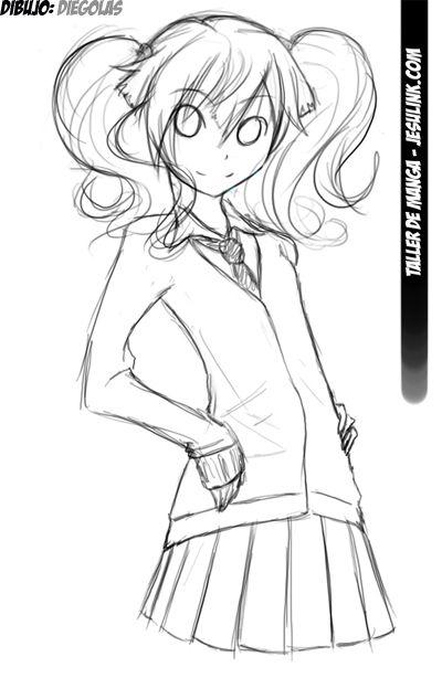 Taller de Manga. Cómo dibujar una chica Manga. | Anime | Pinterest ...