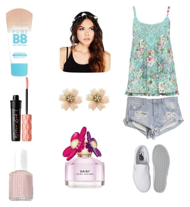 """Happy earth day!"" by sydneycolella ❤ liked on Polyvore featuring M&Co, One Teaspoon, Vans, Wet Seal, Marc Jacobs, Maybelline, Benefit and Essie"