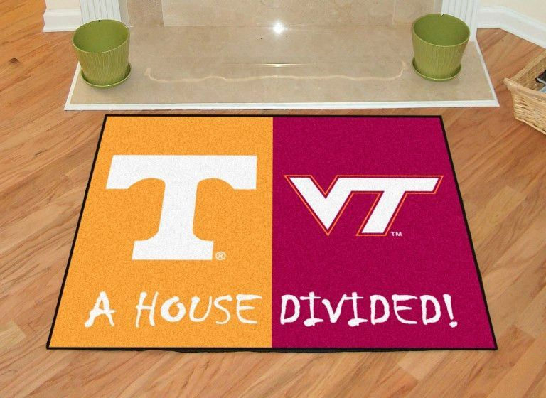 Tennessee / Virginia Tech Divided Rugs