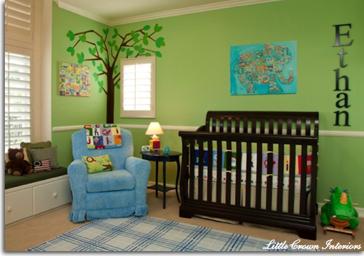 Little Crown Interiors Green Nursery