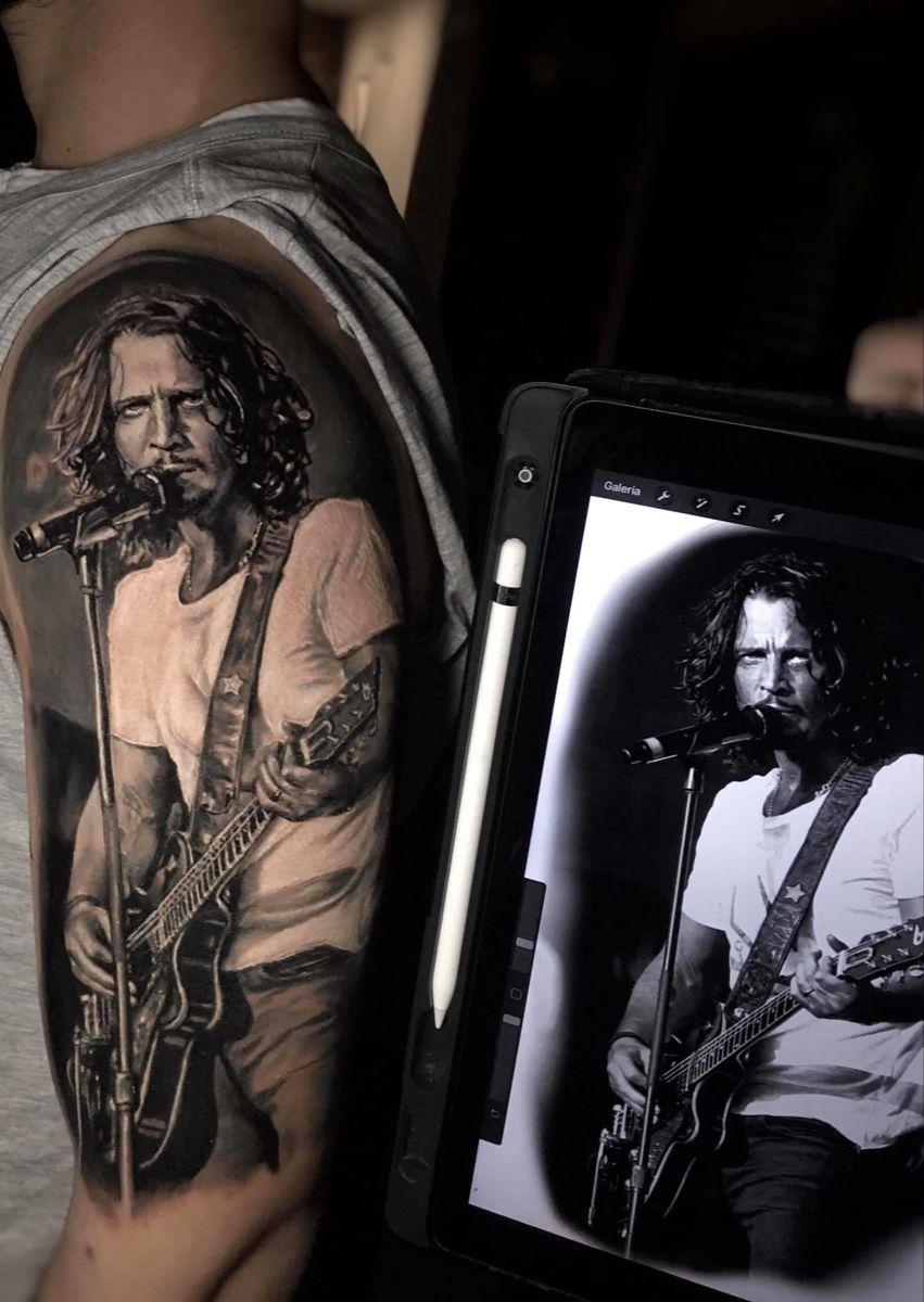Insane chris cornell portrait tattoo in 2020 tattoos
