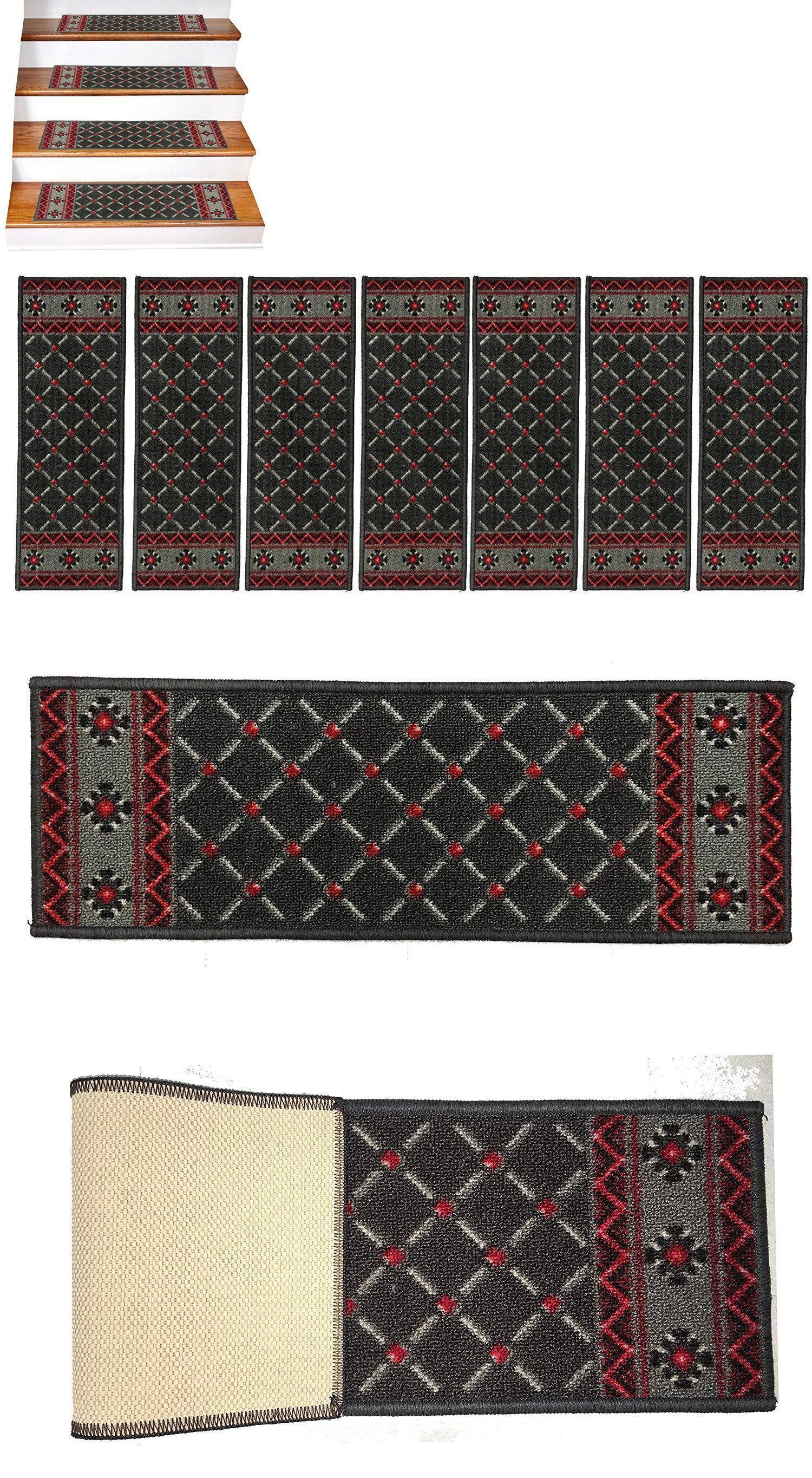 Stair Treads 175517 Gloria Washable Stair Mat Area Rug Set Of 7 | Gloria Rug Stair Treads | Mats | Area Rug | Stair Runners | Rubber Backing | Skid Resistant