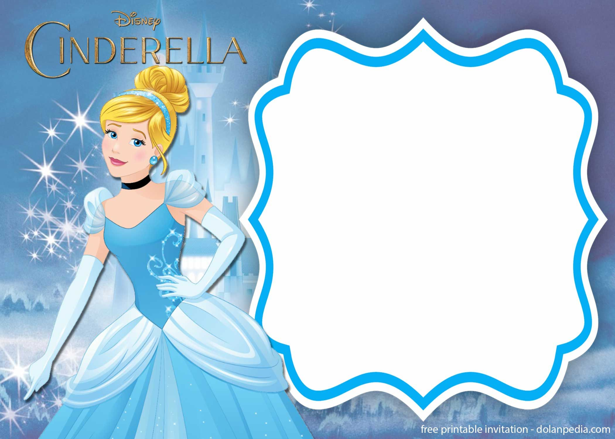 nice free template free printable cinderella royal invitation