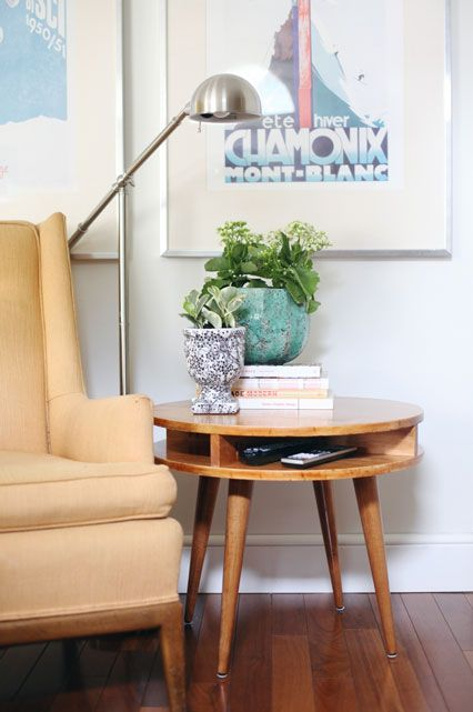 30 Awesome DIY Projects — For EVERY Level   #refinery29  http://www.refinery29.com/diy-home-projects#slide17  Midcentury Modern Side Table by A Beautiful Mess  No need to throw down a whole week's wages on a vintage side table when you can craft your own. This may be next-level, but well worth it.
