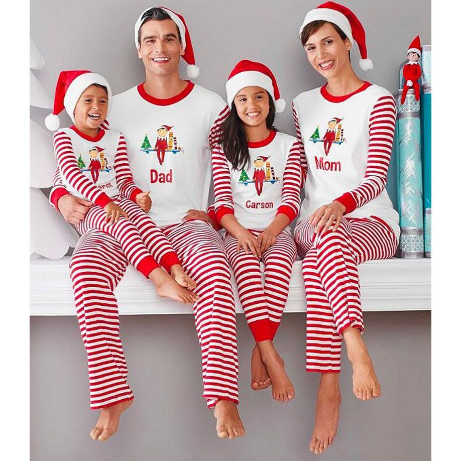 7b68531b52 Christmas Pajamas Family Look Father Son Matching Clothes Kids Warm Long  Sleeve Sleepwear Matching Mother And Daughter Clothes
