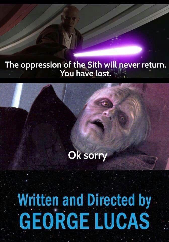 Revenge Of The Sith Alternate Ending Star Wars Memes Funny Star Wars Pictures Star Wars Humor
