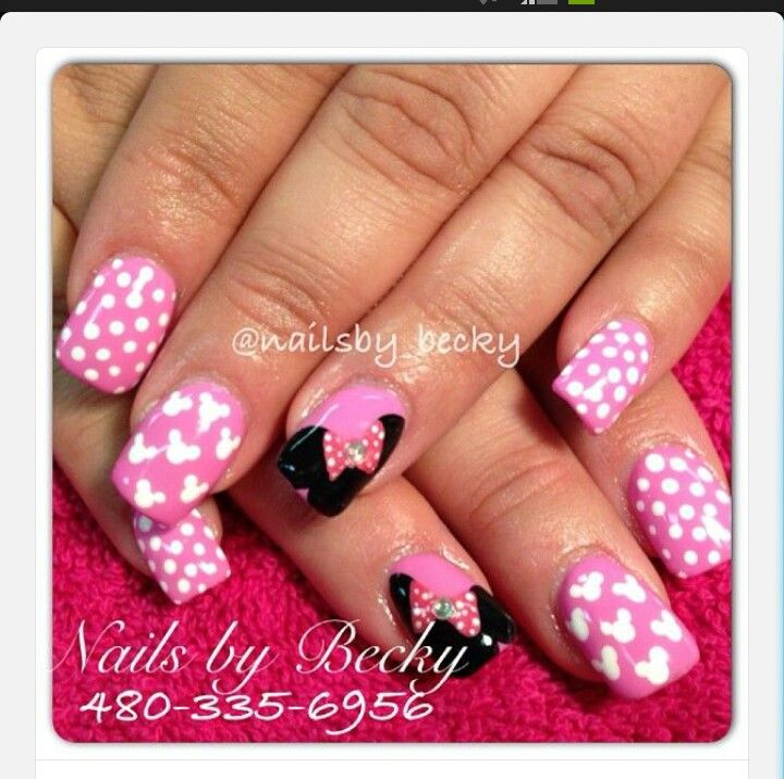 Minnie Mouse | nails | Pinterest | Modelo de uñas, Diseños de uñas y ...