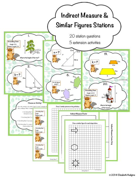 Indirect Measure and Similar Figures Stations | Middle ...