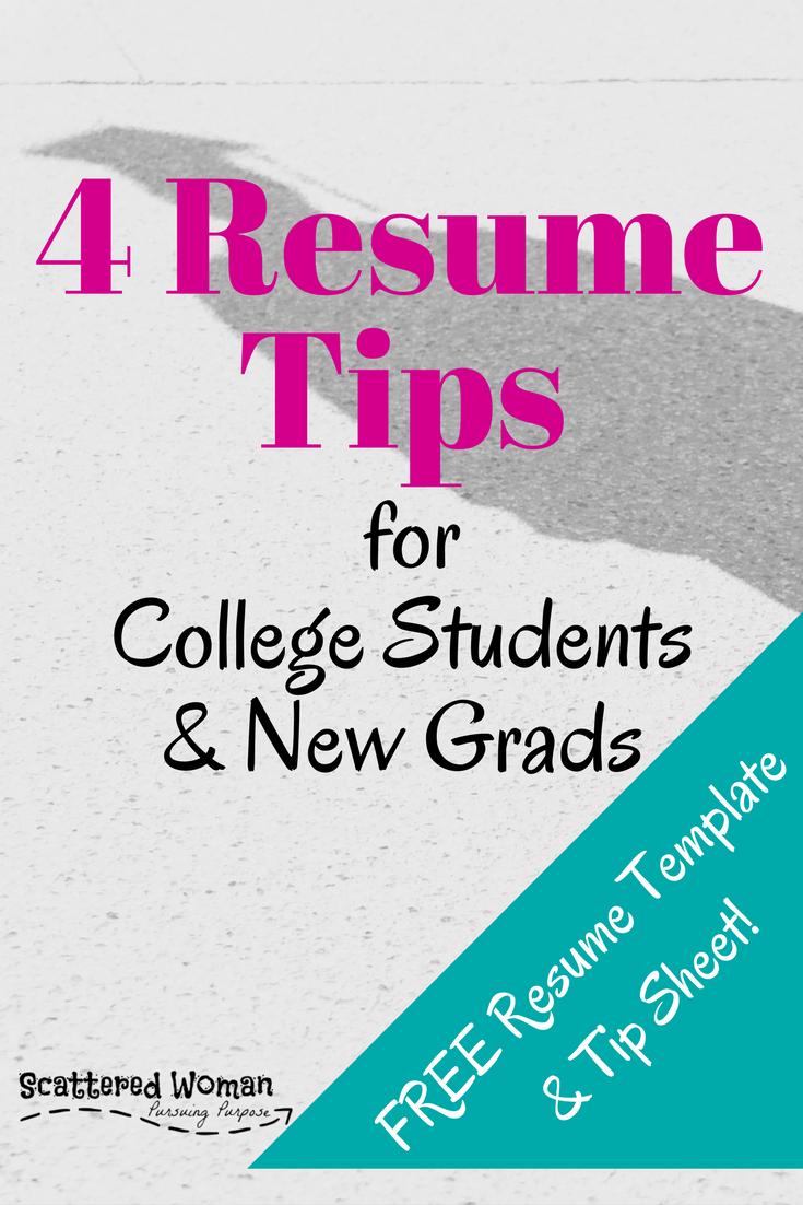 4 best resume tips for new grads
