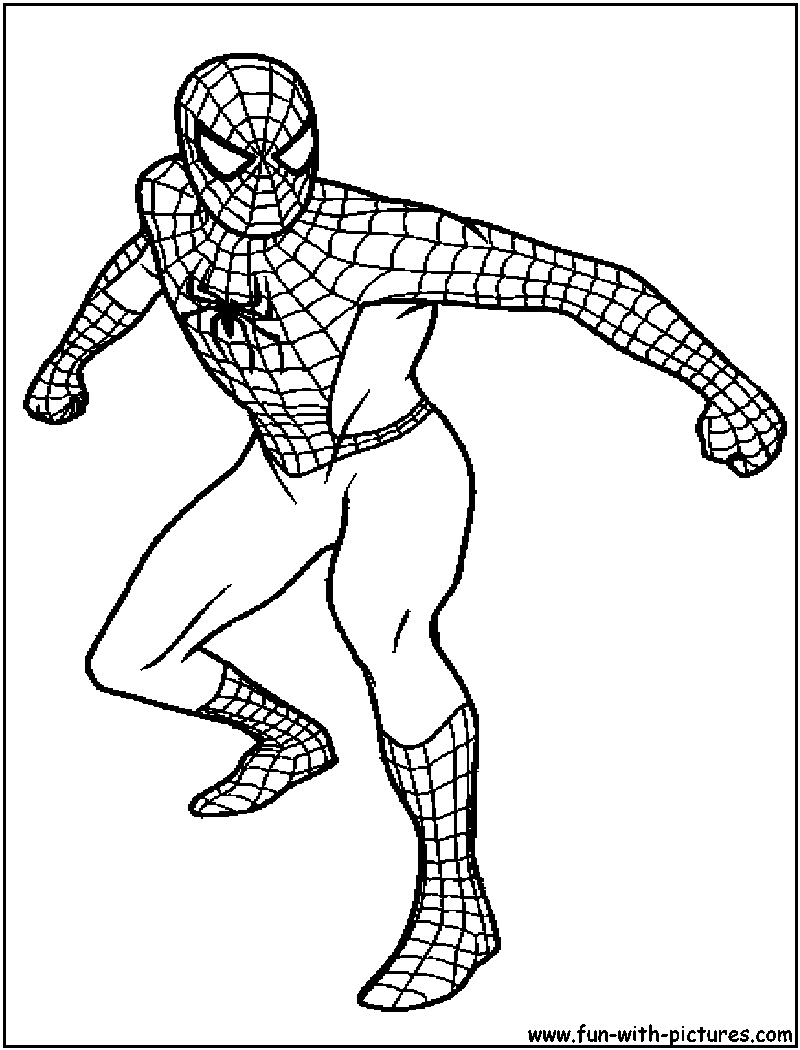 Spiderman Color Sheets Coloring Sheet Printable Spiderman Pages ... | 1050x800