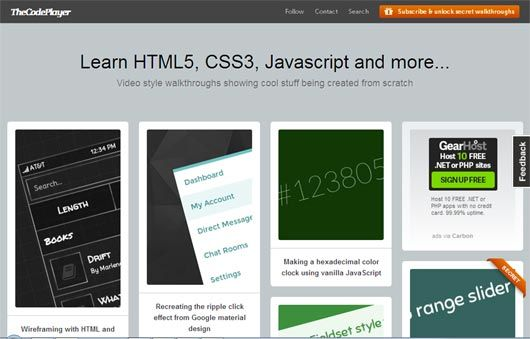 20 Best Resources for Learning HTML CSS Web Development Pinterest - best of blueprint fixed background scrolling layout