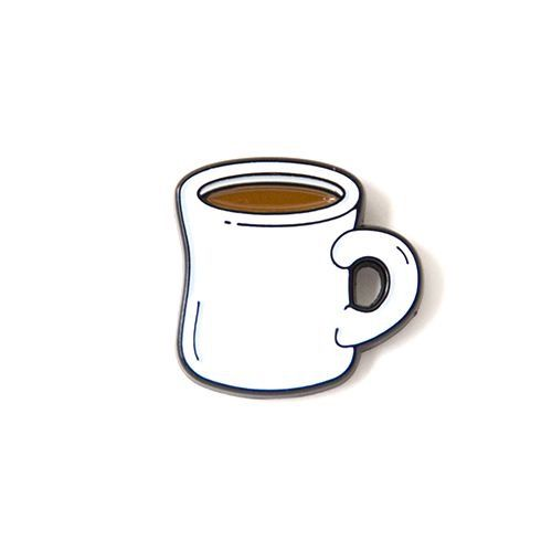 Caffe Latte Enamel Pin cute cartoon coffee tea drink cup lapel