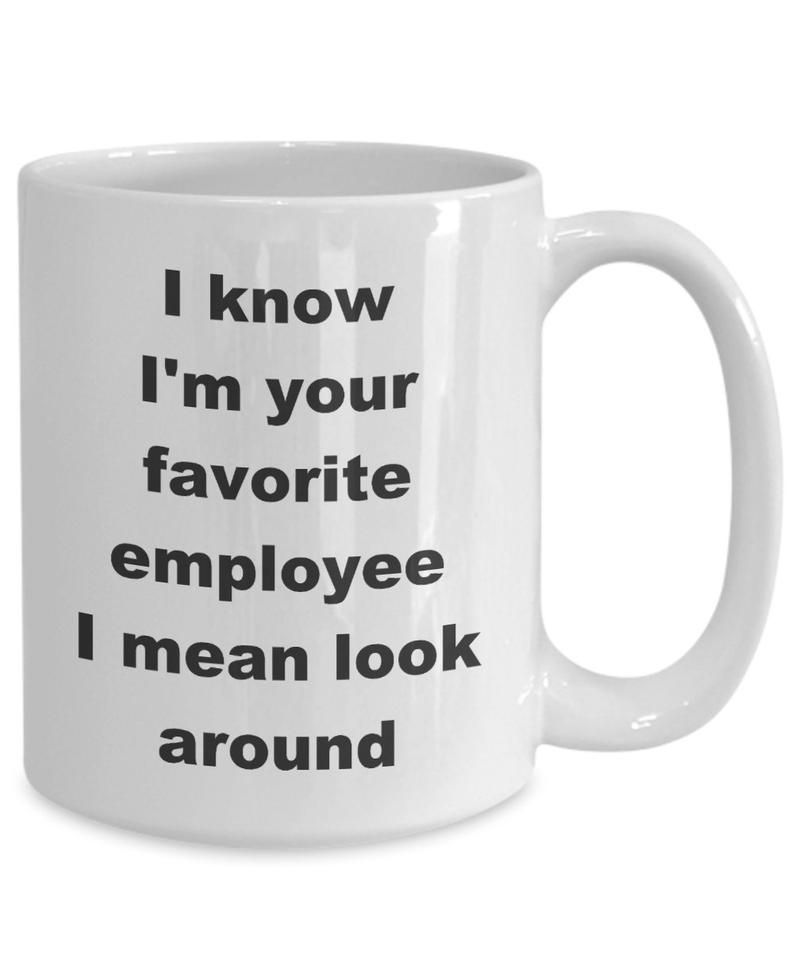Favorite Employee Mug gift for employee office mug job mug | Etsy