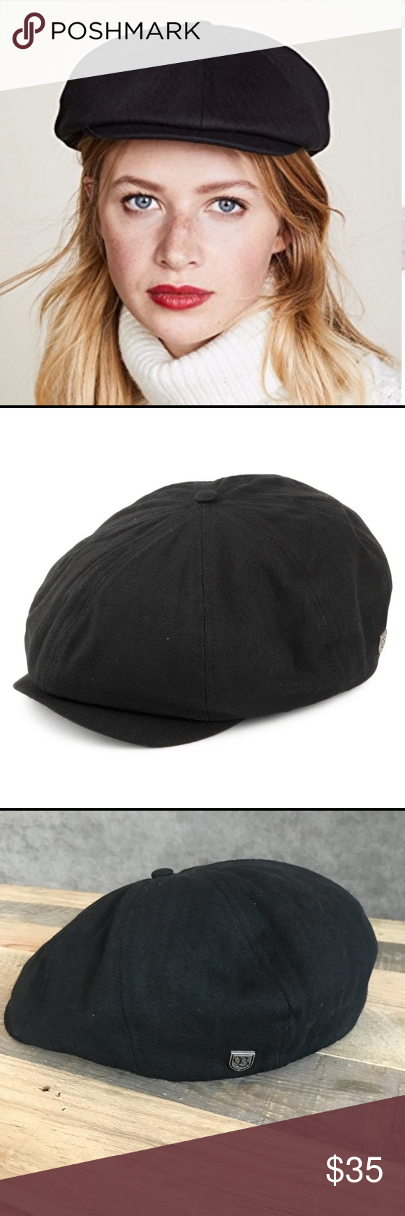 2d883aec139a3 Brixton Brood Newsboy Cap Brixton Brood Newsboy Cap size M Worn Once just  not my favorite on me Like new condition Brixton Accessories Hats