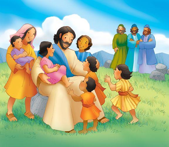 Jesus And The Children Historias Biblicas Para Ninos