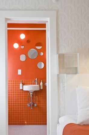 benjamin moore's outrageous orange - the best place for an