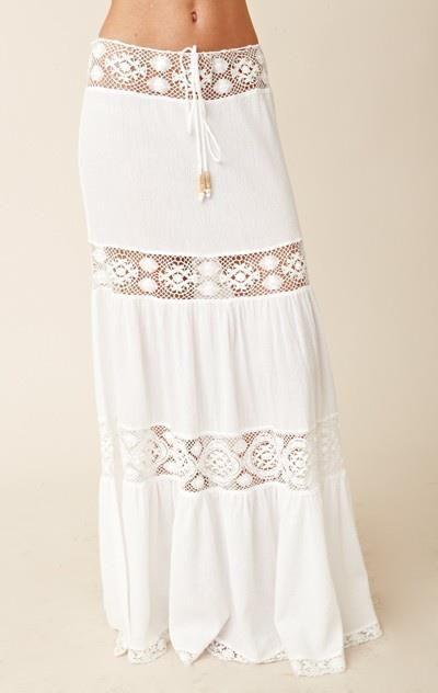4c5618e56e Vestidos de playa combinados en tela y crochet » Útiles de Mujer ...
