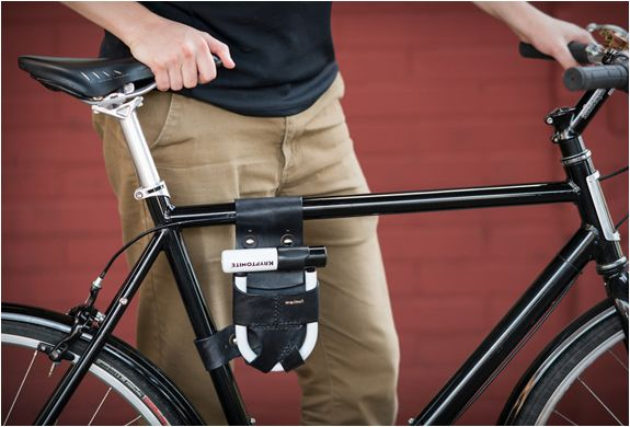 Frame Mounted U Lock Holster Holster Leather Bicycle Bike Lock
